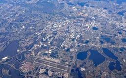 Vista aerea di Orlando International Airport fotografia stock libera da diritti