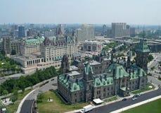 Vista aerea di Ottawa Fotografia Stock