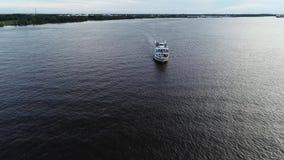 Vista aerea di PA del fiume Delaware Filadelfia della nave passeggeri stock footage