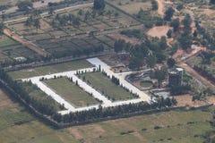 Vista aerea di paesaggio in India del sud Fotografia Stock Libera da Diritti