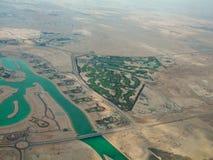 Vista aerea di paesaggio nel Qatar Fotografia Stock