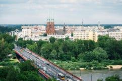 Vista aerea di paesaggio urbano di Varsavia, Polonia Immagini Stock