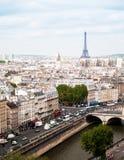 Vista aerea di paesaggio urbano di Parigi immagini stock