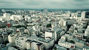 Vista aerea di paesaggio urbano di Parigi, Francia Fotografia Stock Libera da Diritti