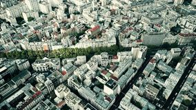 Vista aerea di paesaggio urbano tipico di Parigi, Francia Immagine Stock Libera da Diritti