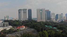 Vista aerea di panorama di Kuala Lumpur Skyline Maggio 2018, Kuala Lumpur, Malesia 4K archivi video