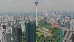 Vista aerea di panorama di Kuala Lumpur Skyline Maggio 2018, Kuala Lumpur, Malesia 4K stock footage