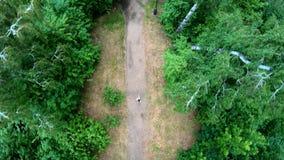 Vista aerea di pareggiare nel parco Verticale, dall'alto in basso stock footage