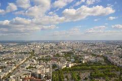 Vista aerea di Parigi Fotografia Stock