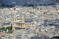 Vista aerea di Parigi Fotografie Stock Libere da Diritti