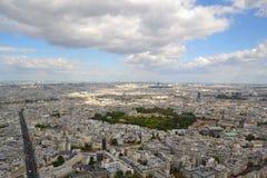 Vista aerea di Parigi Immagine Stock Libera da Diritti