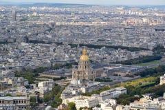 Vista aerea di Parigi Fotografie Stock