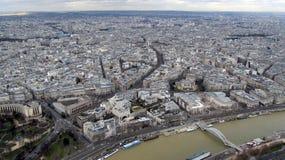 Vista aerea di Parigi dalla Torre Eiffel Fotografia Stock Libera da Diritti