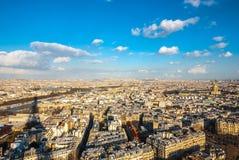 Vista aerea di Parigi e della Senna Fotografia Stock