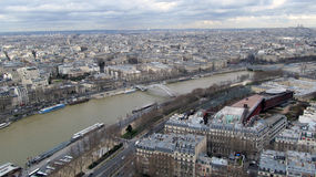 Vista aerea di Parigi, Francia Immagine Stock Libera da Diritti