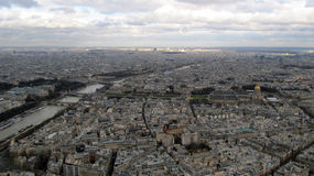 Vista aerea di Parigi, Francia Fotografia Stock