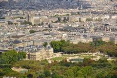 Vista aerea di Parigi/Royal Palace Fotografie Stock