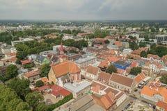 Vista aerea di Parnu immagini stock libere da diritti