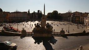 Vista aerea di Piazza del Popolo archivi video