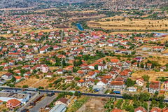 Vista aerea di Podgorica Immagine Stock Libera da Diritti