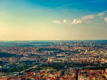 Vista aerea di Praga fotografia stock