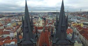Vista aerea di Praga, Repubblica ceca archivi video