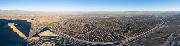Vista aerea di progetto abitativo vicino a Las Vegas fotografia stock libera da diritti