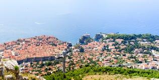 Vista aerea di Ragusa Fotografia Stock Libera da Diritti