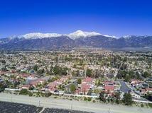 Vista aerea di Rancho Cucamonga fotografia stock