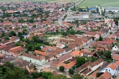 Vista aerea di Rasnov, Brasov Immagini Stock Libere da Diritti