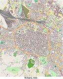 Vista aerea di ricerca dell'Italia Europa di Bologna ciao Illustrazione Vettoriale