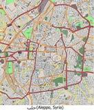 Vista aerea di ricerca di Aleppo Siria Medio Oriente ciao Illustrazione Vettoriale