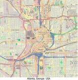 Vista aerea di ricerca di Atlanta Georgia U.S.A. ciao Illustrazione di Stock