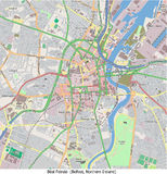 Vista aerea di ricerca di Belfast Irlanda del Nord Europa ciao Royalty Illustrazione gratis