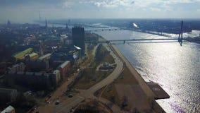 Vista aerea di Riga, Lettonia video d archivio
