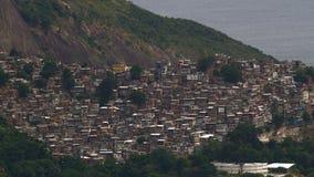 Vista aerea di Rocinha Favelas Fotografie Stock Libere da Diritti