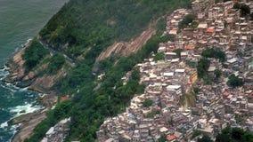 Vista aerea di Rocinha Favelas Immagini Stock
