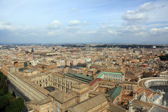 Vista aerea di Roma Fotografia Stock Libera da Diritti
