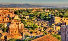 Vista aerea di Roman Forum Fotografia Stock Libera da Diritti