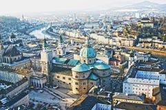 Vista aerea di Salisburgo, Austria Fotografia Stock