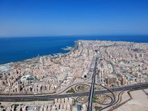 Vista aerea di Salmiya Kuwait un bello giorno di estate fotografie stock