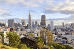 Vista aerea di San Francisco del centro Fotografia Stock Libera da Diritti