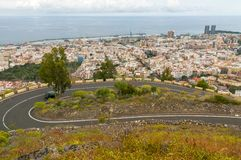 Vista aerea di Santa Cruz de Tenerife. La Spagna Fotografia Stock Libera da Diritti