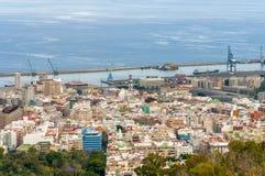 Vista aerea di Santa Cruz de Tenerife. La Spagna Immagine Stock