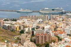 Vista aerea di Santa Cruz de Tenerife. La Spagna Fotografie Stock Libere da Diritti