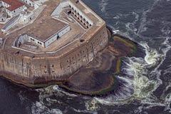 Vista aerea di Santa Cruz Fort Niteroi vicina Immagine Stock