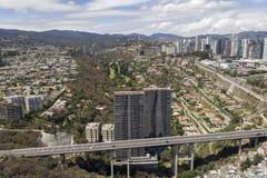 Vista aerea di Santa Fe a Messico City Immagine Stock
