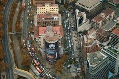 Vista aerea di Santiago Immagini Stock Libere da Diritti