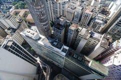 Vista aerea di sao Paulo City del centro Immagine Stock