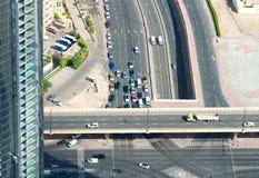 Vista aerea di scambio da uno stato all'altro elevato Fotografia Stock Libera da Diritti